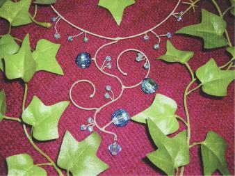 Les Soeurs Boa collier Arcane bleu