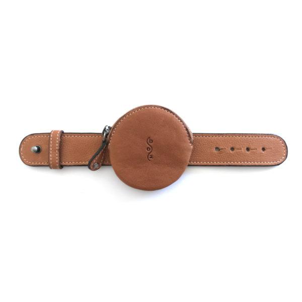 Watch Bag cuir cognac
